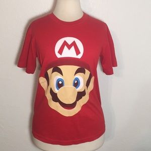 Tops - Classic Game Tees Super Mario Face T Shirt Small